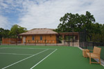 View of custom designed tennis court built by KG Bell.