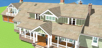 3D view of a Silicon Valley residence project by KG Bell